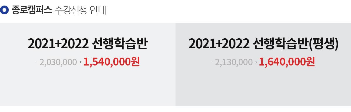 종로캠퍼스 수강신청 안내